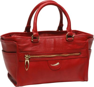TUSK LTD Donington Napa Izzy Satchel Red - TUSK LTD Leather Handbags