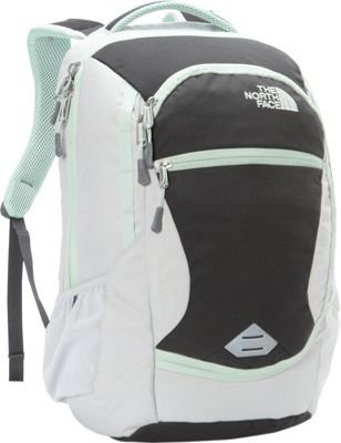 The North Face Women's Pivoter Laptop Backpack Lunar Ice Grey/Subtle Green - The North Face Business & Laptop Backpacks