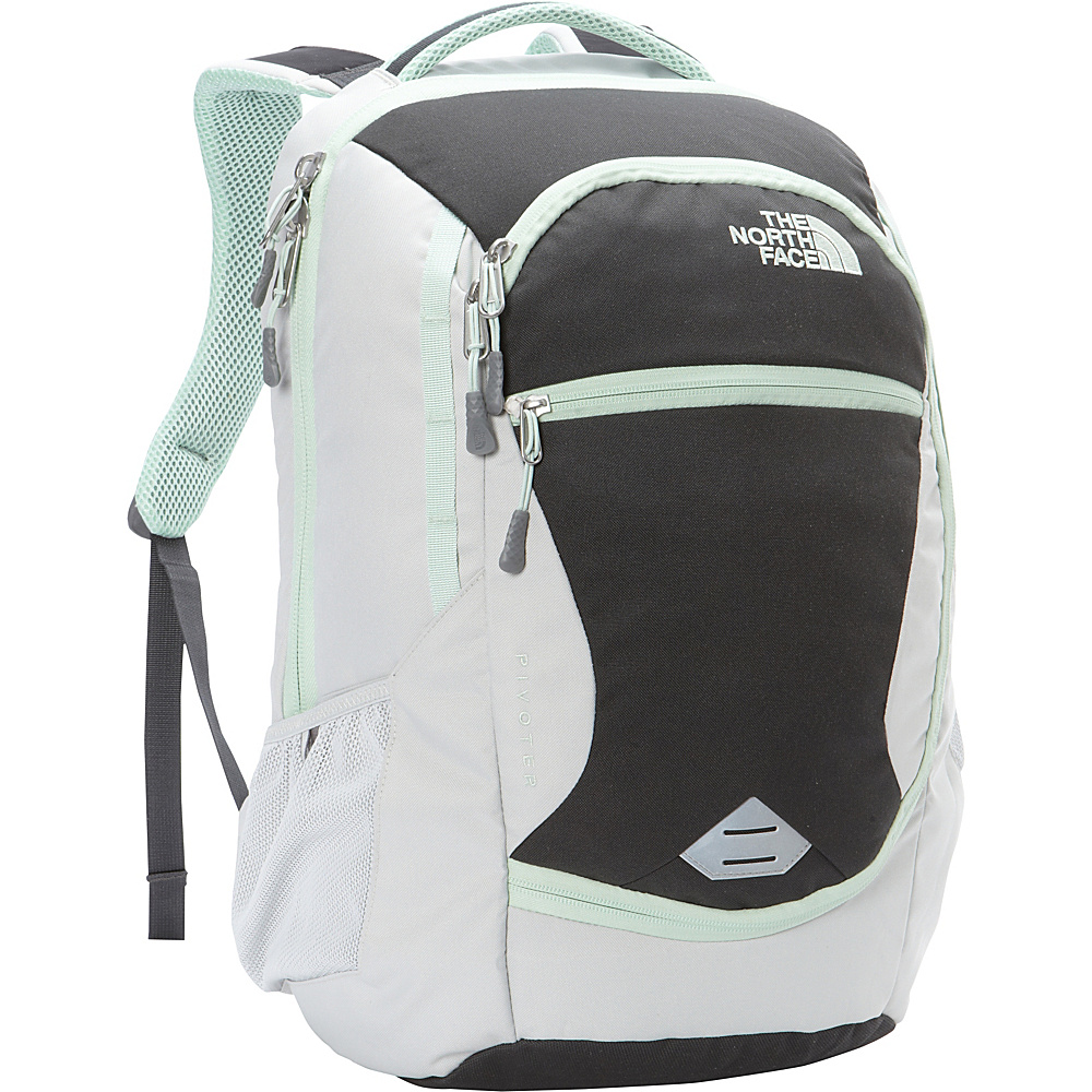 The North Face Womens Pivoter Laptop Backpack Lunar Ice Grey/Subtle Green - The North Face Business & Laptop Backpacks - Backpacks, Business & Laptop Backpacks