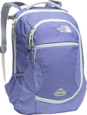 The North Face Women's Pivoter Laptop Backpack Stellar Blue Heather/Arctic Ice Blue - The North Face Business & Laptop Backpacks