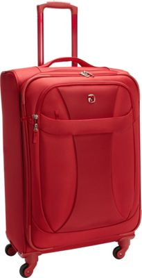 Wenger Travel Gear Lightweight 24 inch Spinner Red - Wenger Travel Gear Softside Checked