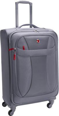 Wenger Travel Gear Lightweight 24 inch Spinner Grey - Wenger Travel Gear Softside Checked