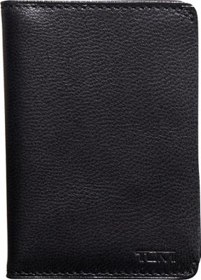 Tumi Chambers Gusseted Card Case Black - Tumi Men's Wallets