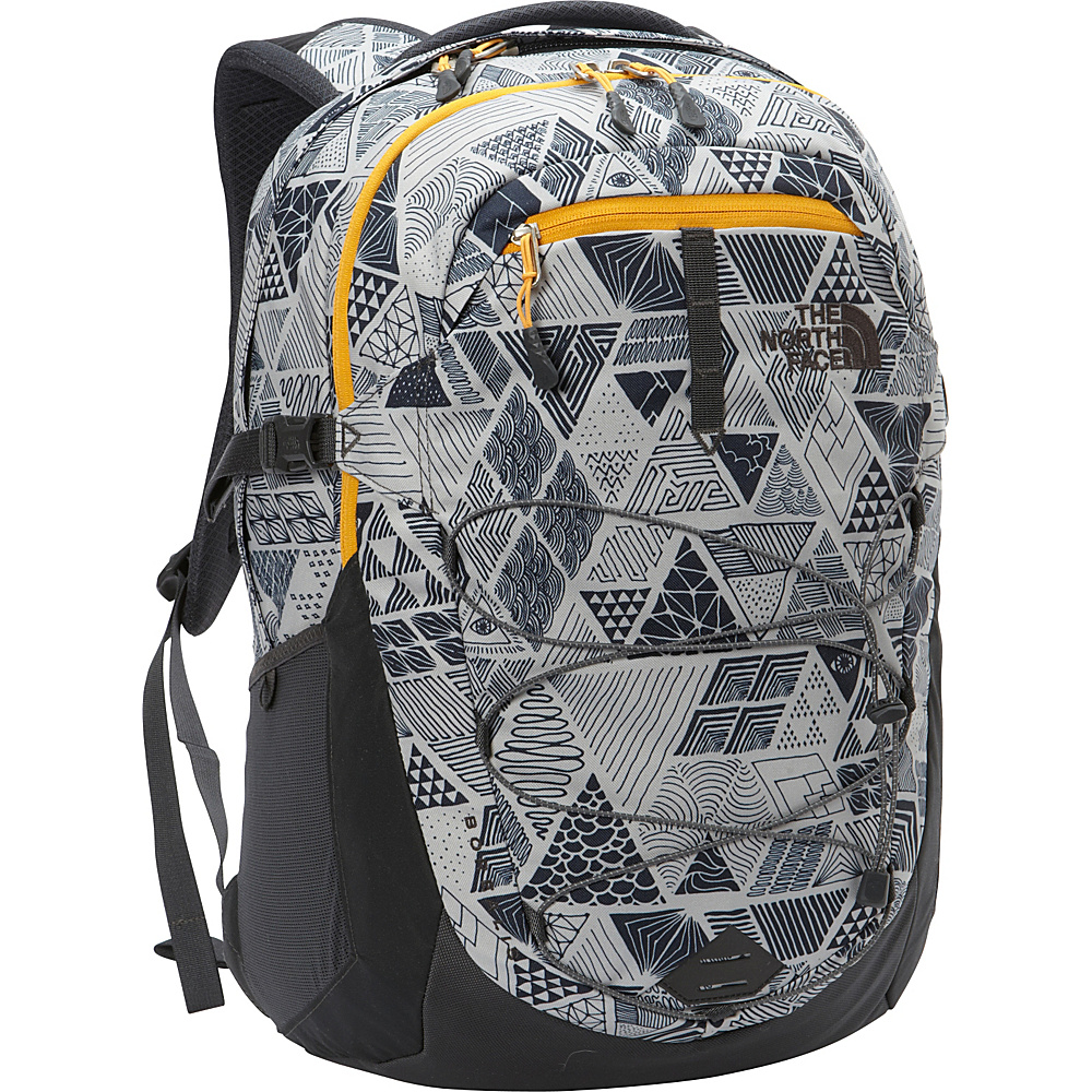 The North Face Borealis Laptop Backpack Trickonometry Print Radiant Yellow The North Face Business Laptop Backpacks