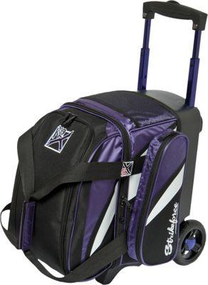KR Strikeforce Bowling Cruiser Single Bowling Ball Roller Bag Purple/White/Black - KR Strikeforce Bowling Sport Bags