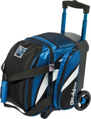 KR Strikeforce Bowling Cruiser Single Bowling Ball Roller Bag Royal/White/Black - KR Strikeforce Bowling Bowling Bags