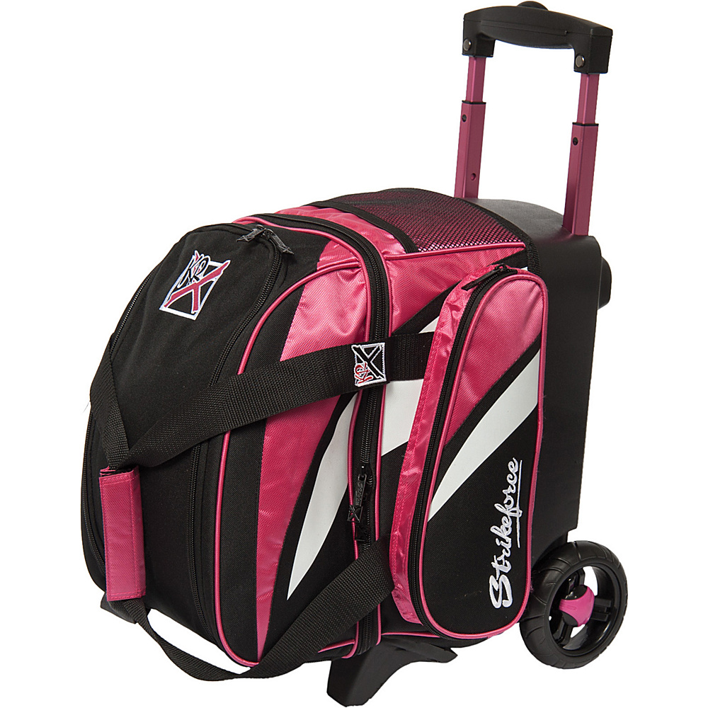 KR Strikeforce Bowling Cruiser Single Bowling Ball Roller Bag Pink White Black KR Strikeforce Bowling Bowling Bags