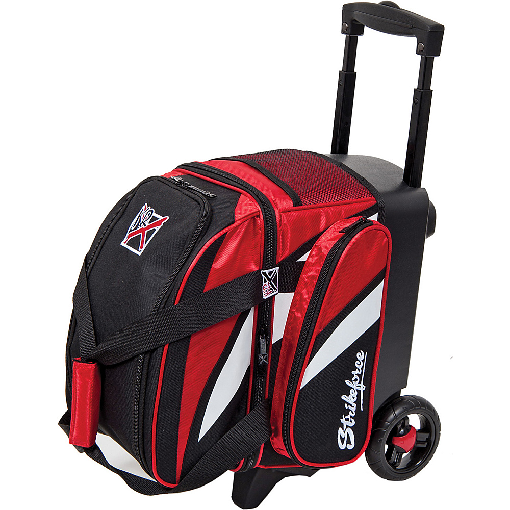 KR Strikeforce Bowling Cruiser Single Bowling Ball Roller Bag Red White Black KR Strikeforce Bowling Bowling Bags