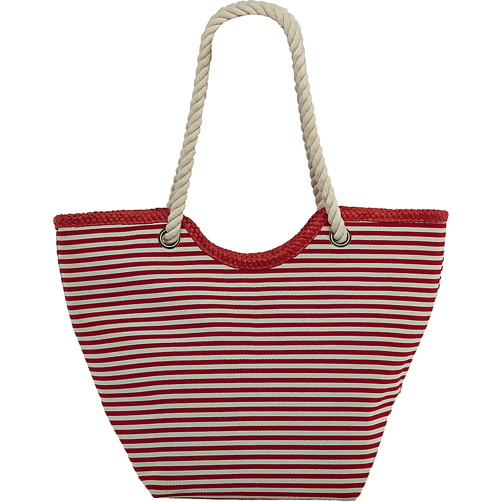 Cappelli Cotton Nautical Stripe Bag Red/White Stripes - Cappelli Fabric Handbags