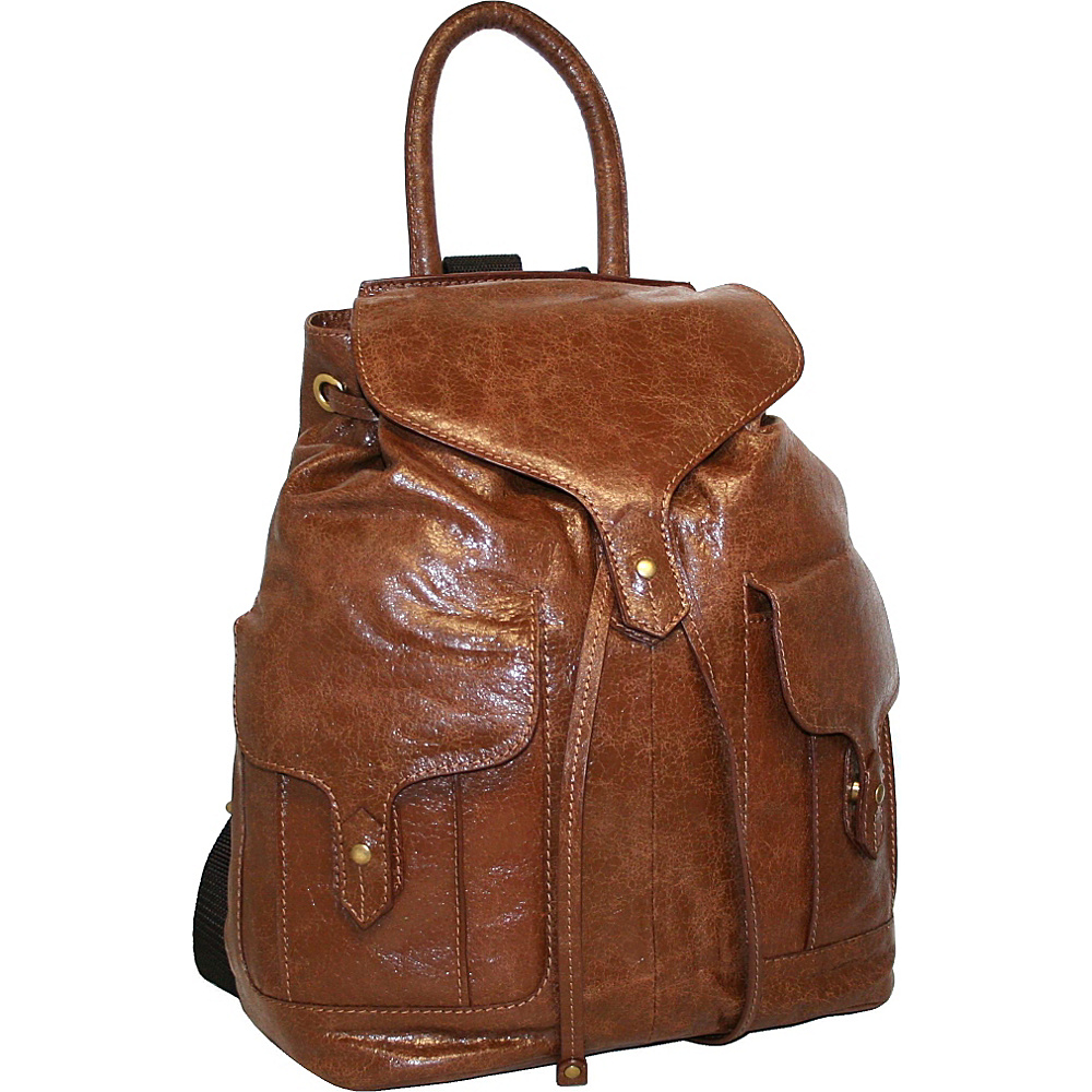 Nino Bossi Carry it All Back Pack for Him and Her Cognac - Nino Bossi School & Day Hiking Backpacks - Backpacks, School & Day Hiking Backpacks