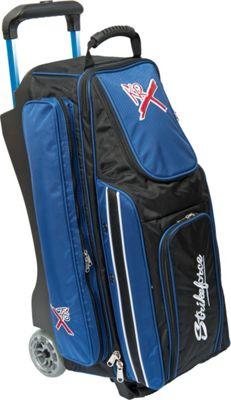 KR Strikeforce Bowling Royal Flush Triple Bowling Ball Roller Bag Royal/Black - KR Strikeforce Bowling Bowling Bags