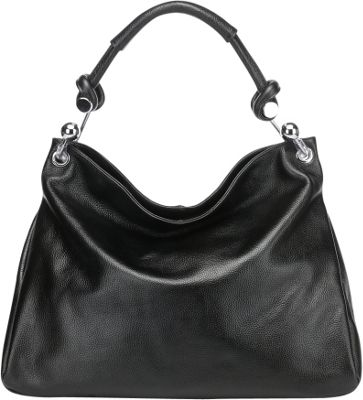 Vicenzo Leather Kimberly Leather Shoulder Handbag Black - Vicenzo Leather Leather Handbags