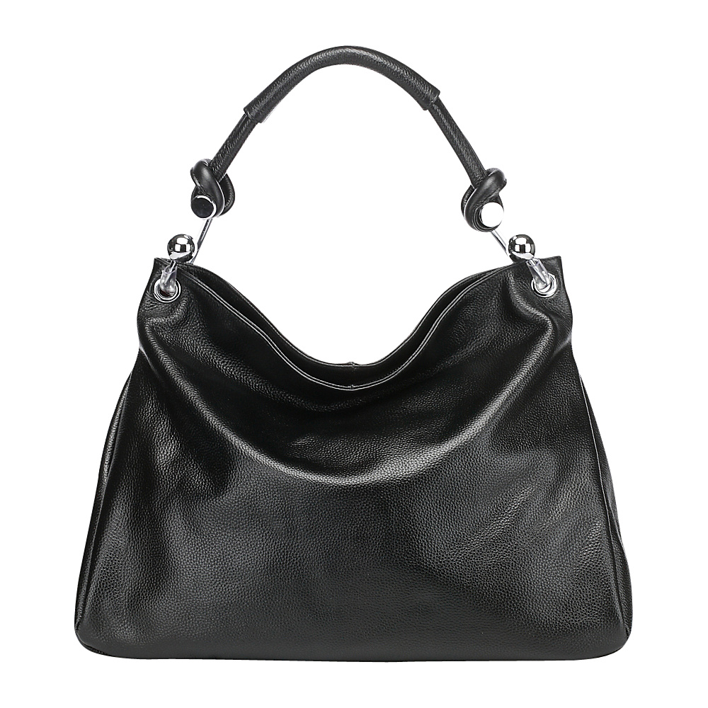 Vicenzo Leather Kimberly Leather Shoulder Handbag Black Vicenzo Leather Leather Handbags