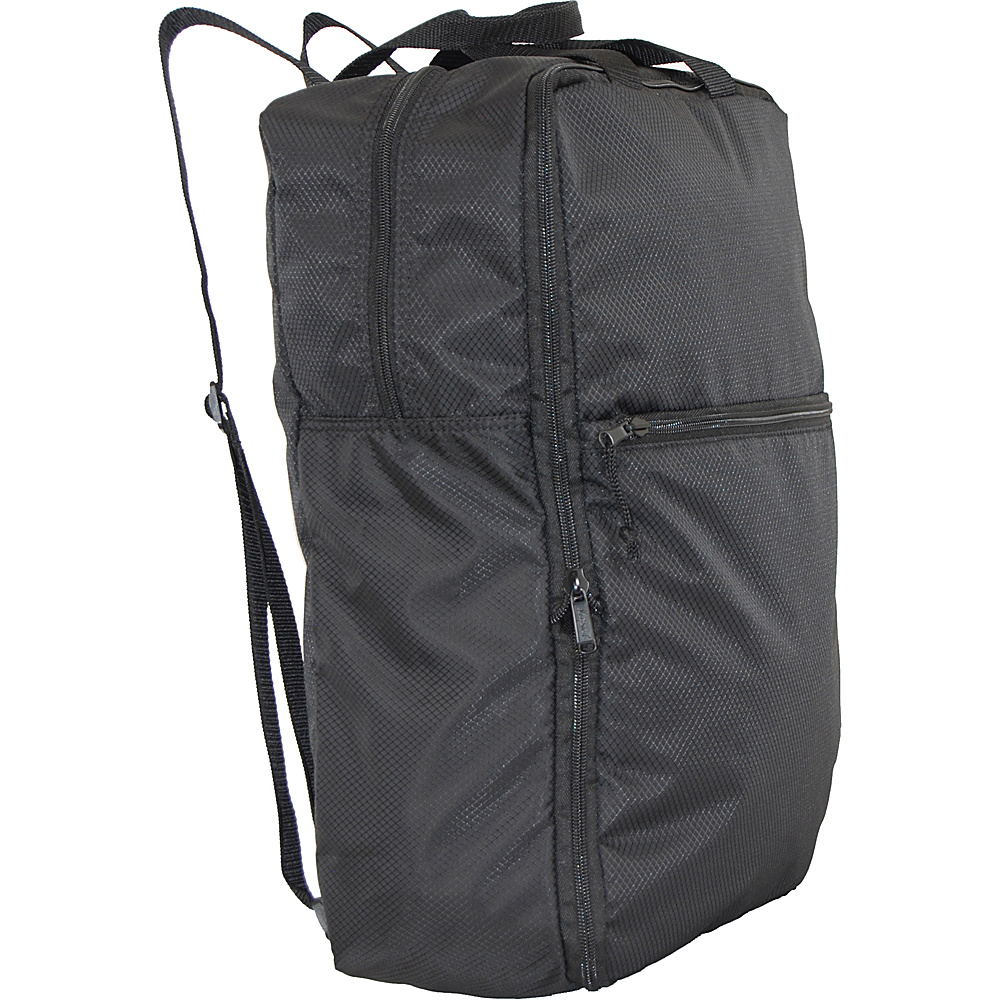 Netpack U Zip Expandable Packable Backpack Black Netpack Everyday Backpacks