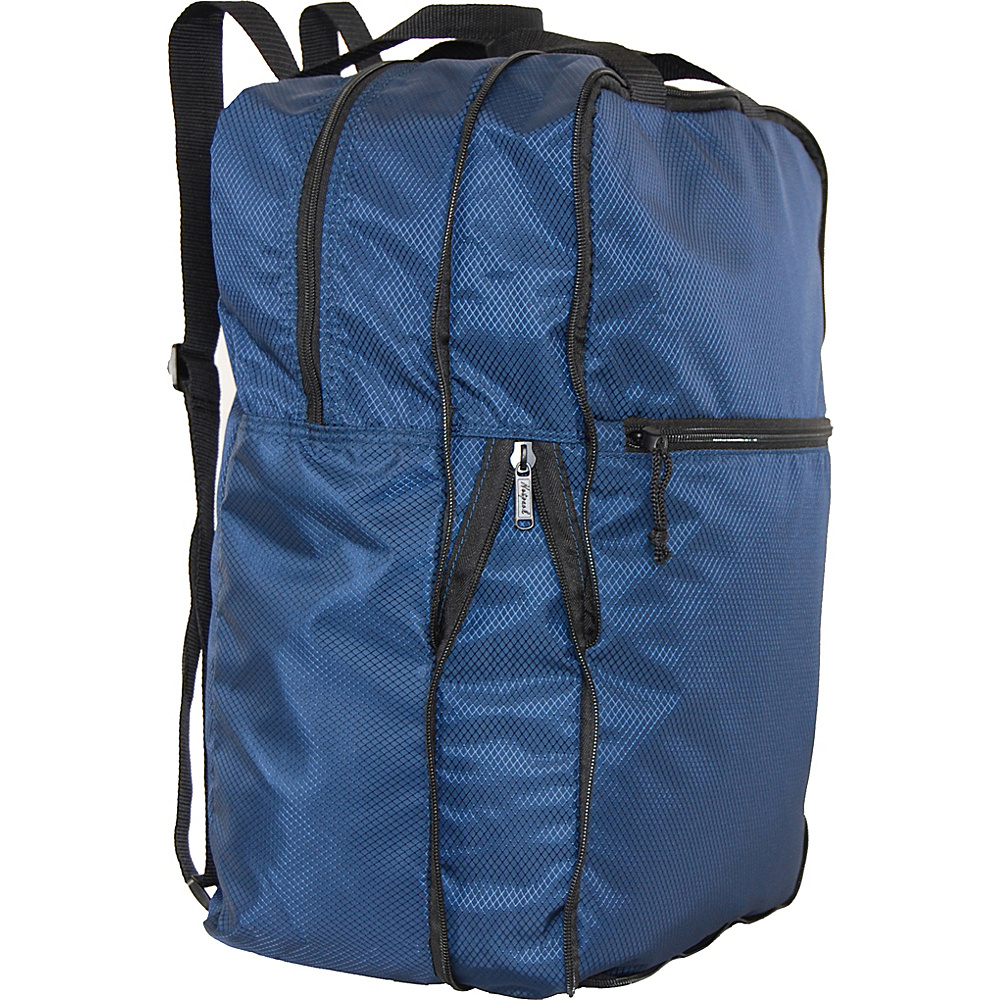 Netpack U Zip Expandable Packable Backpack Navy Netpack Everyday Backpacks