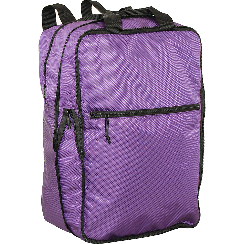 Netpack U Zip Expandable Packable Backpack Purple Netpack Everyday Backpacks