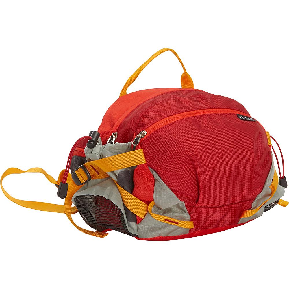 Everest Outdoor Waist Pack with Bottle Holders Red/Wine/Gray - Everest Waist Packs - Backpacks, Waist Packs