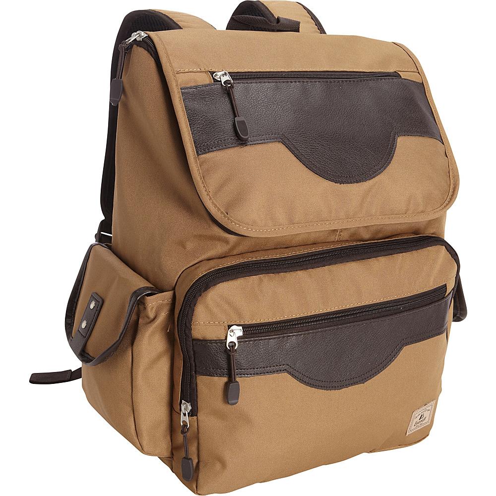 Everest Wrangler Laptop Backpack Tan - Everest Business & Laptop Backpacks - Backpacks, Business & Laptop Backpacks