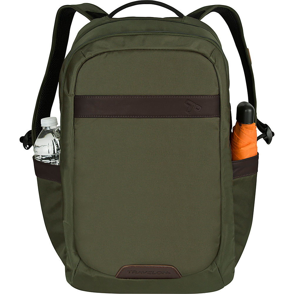 Travelon Anti-Theft Classic 2-Compartment Backpack Olive - Travelon School & Day Hiking Backpacks