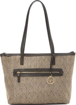 La Diva Canvas Tote BLACK MULTI - La Diva Manmade Handbags
