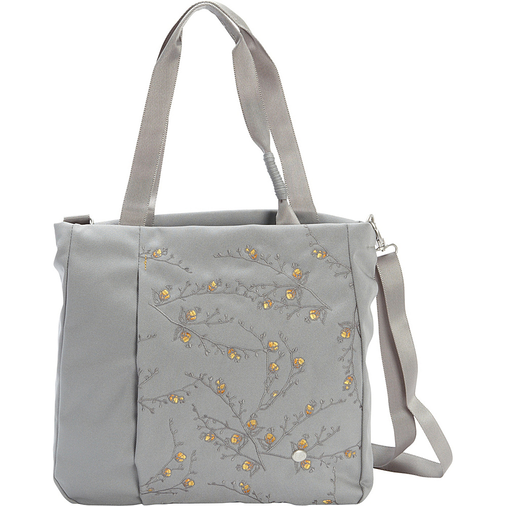 Haiku Journey Tote Poppy Mist Haiku Fabric Handbags