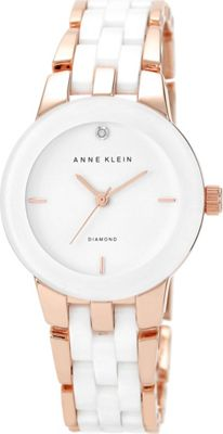Anne Klein Watches Diamond-Accented Ceramic Bracelet Watch WhiteRose Gold - Anne Klein Watches Watches