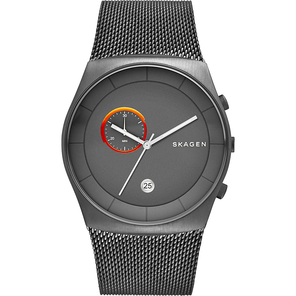 Skagen Havene Steel Mesh Chronograph Watch Grey Skagen Watches