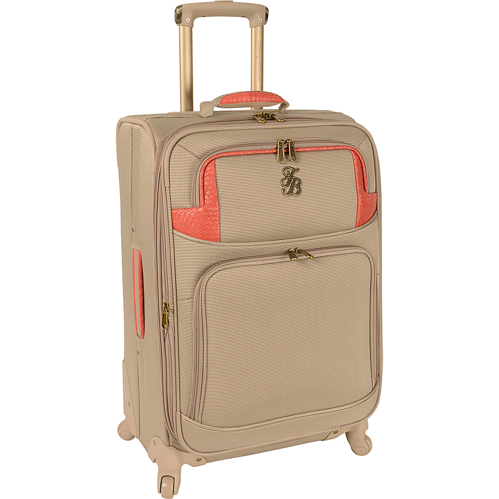 Tommy Bahama Belle of the Beach 24 Expandable Spinner Champagne Coral Tommy Bahama Softside Checked