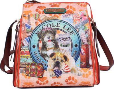 Nicole Lee World Tour Print Multi-Function Bag World Tour - Nicole Lee Manmade Handbags