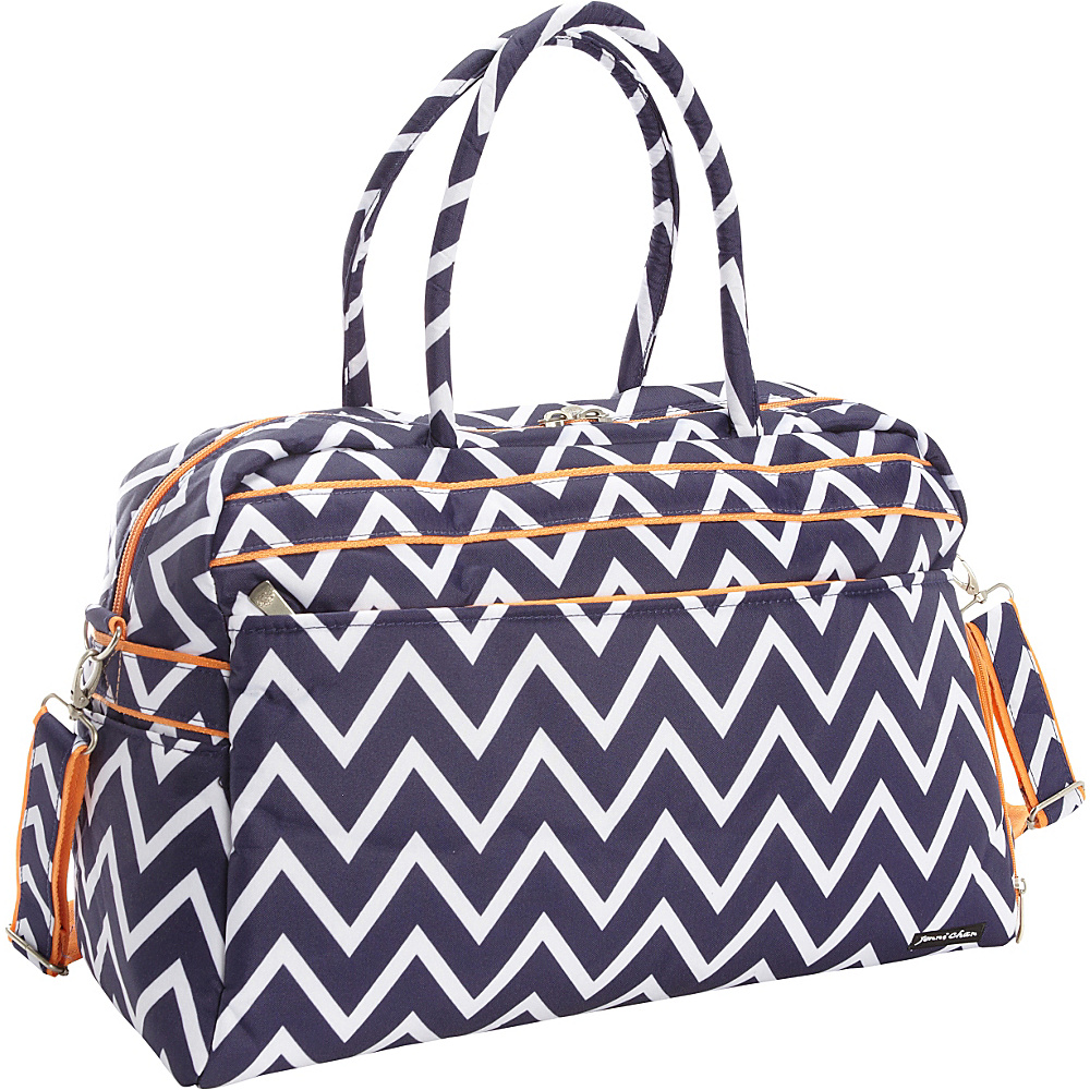 Jenni Chan Madison Soft Gym Duffel Navy Jenni Chan Travel Duffels