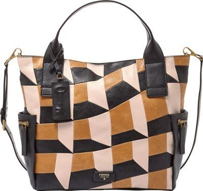 Fossil Emerson Satchel Neutral Multi - Fossil Leather Handbags