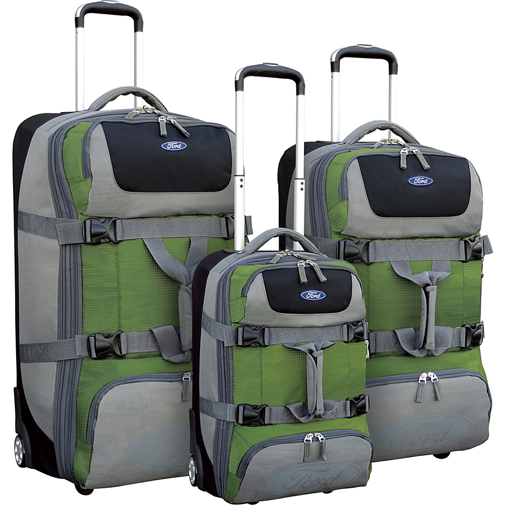 Travelers Club Luggage Ford Explorer 3pc Upright Duffel Green Travelers Club Luggage Luggage Sets