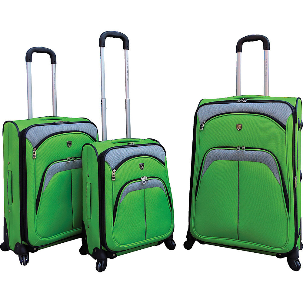 Travelers Club Luggage Lexington 3PC Softside Expandable EVA Spinner Luggage Set Green - Travelers Club Luggage Luggage Sets