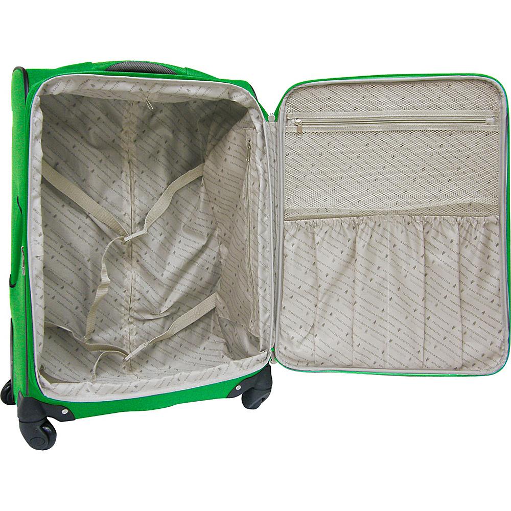 Travelers Club Luggage Lexington 3PC Softside Expandable EVA Spinner Luggage Set Green - Travelers Club Luggage Luggage Sets
