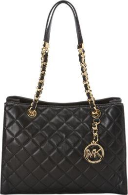 MICHAEL Michael Kors Susannah Medium Tote Black - MICHAEL Michael Kors Designer Handbags