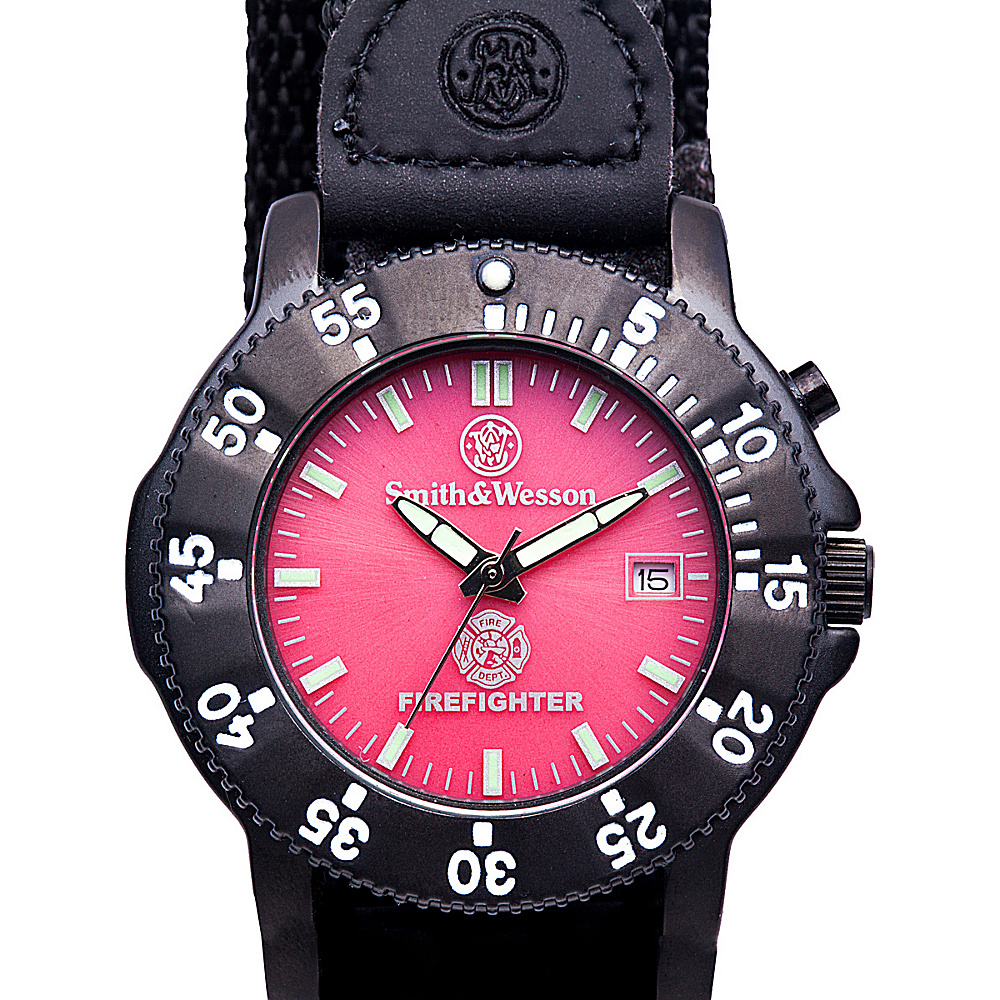 Smith & Wesson Watches Fire Fighters Watch Black - Smith & Wesson Watches Watches