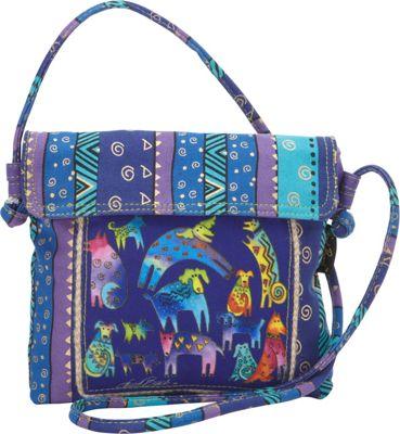 Laurel Burch Mythical Dogs Crossbody Multi - Laurel Burch Fabric Handbags