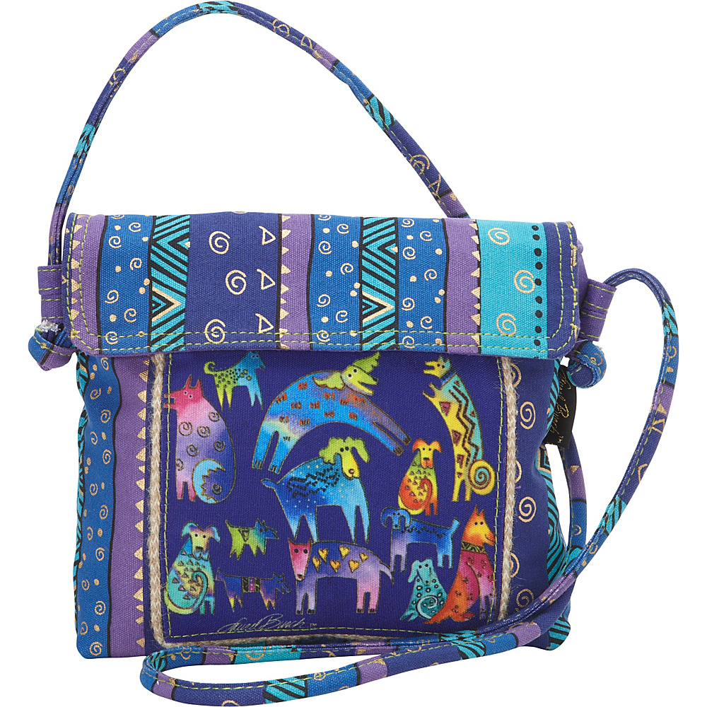 Laurel Burch Mythical Dogs Crossbody Multi Laurel Burch Fabric Handbags