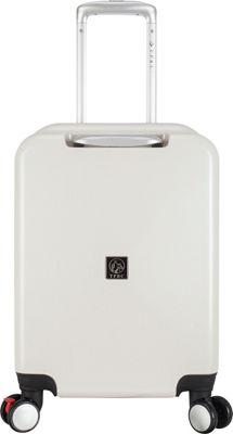 Travelers Club Luggage Celestial 20 inch Seat-On Carry-On Silver White - Travelers Club Luggage Kids' Luggage