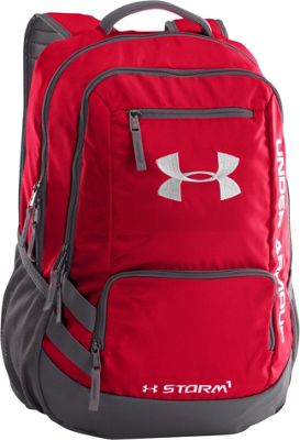 Under Armour Hustle Backpack II Red/Graphite/Silver - Under Armour Business & Laptop Backpacks