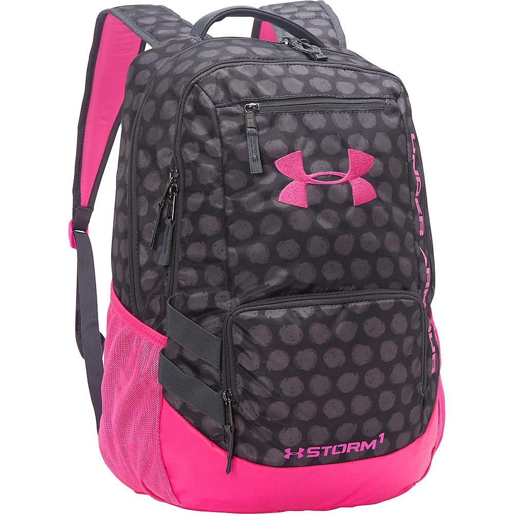 fe23e35443 ... UPC 888728433603 product image for Under Armour Hustle Backpack II Lead  Black Rebel Pink ...