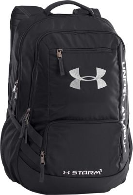 Under Armour Hustle Backpack II Black/Black/Silver - Under Armour Business & Laptop Backpacks