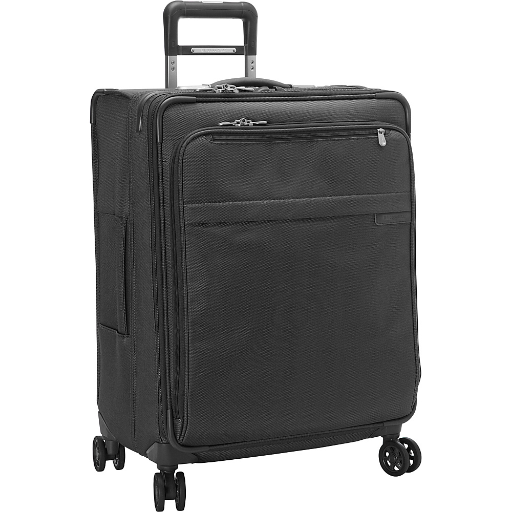 Briggs & Riley Baseline CX Medium Expandable Spinner Black - Briggs & Riley Softside Checked