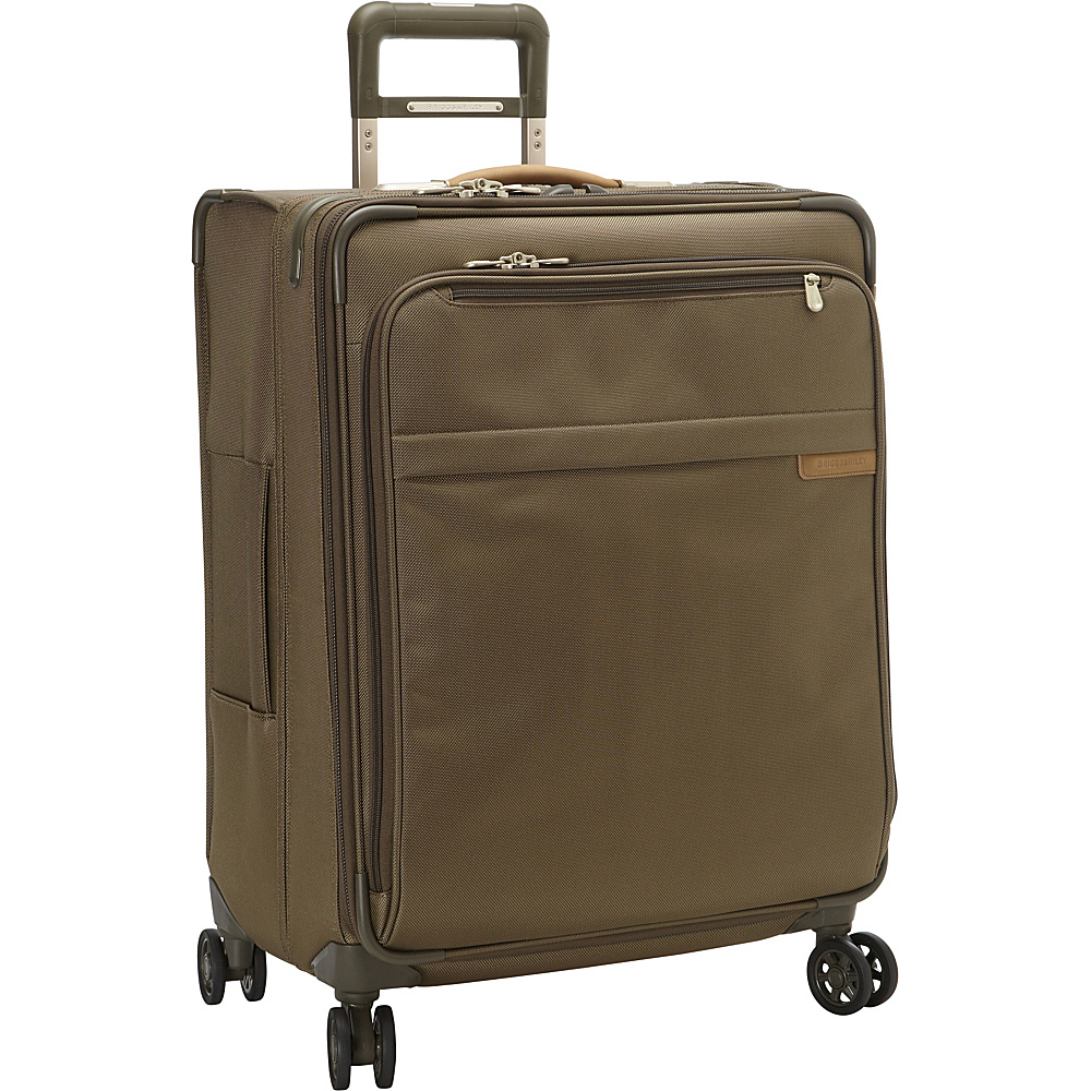 Briggs Riley Baseline CX Medium Expandable Spinner Olive Briggs Riley Softside Checked
