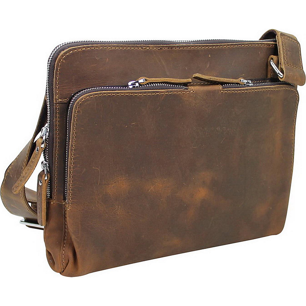 Vagabond Traveler 12.5 Leather Messenger Slim Bag Vintage Brown - Vagabond Traveler Messenger Bags - Work Bags & Briefcases, Messenger Bags