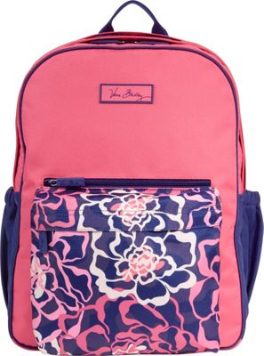 Vera Bradley Large Colorblock Backpack Katalina Pink - Vera Bradley Laptop Backpacks