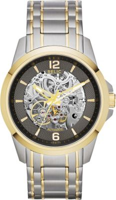 Relic Automatic Skeleton Dial Watch Silver - Relic Watches