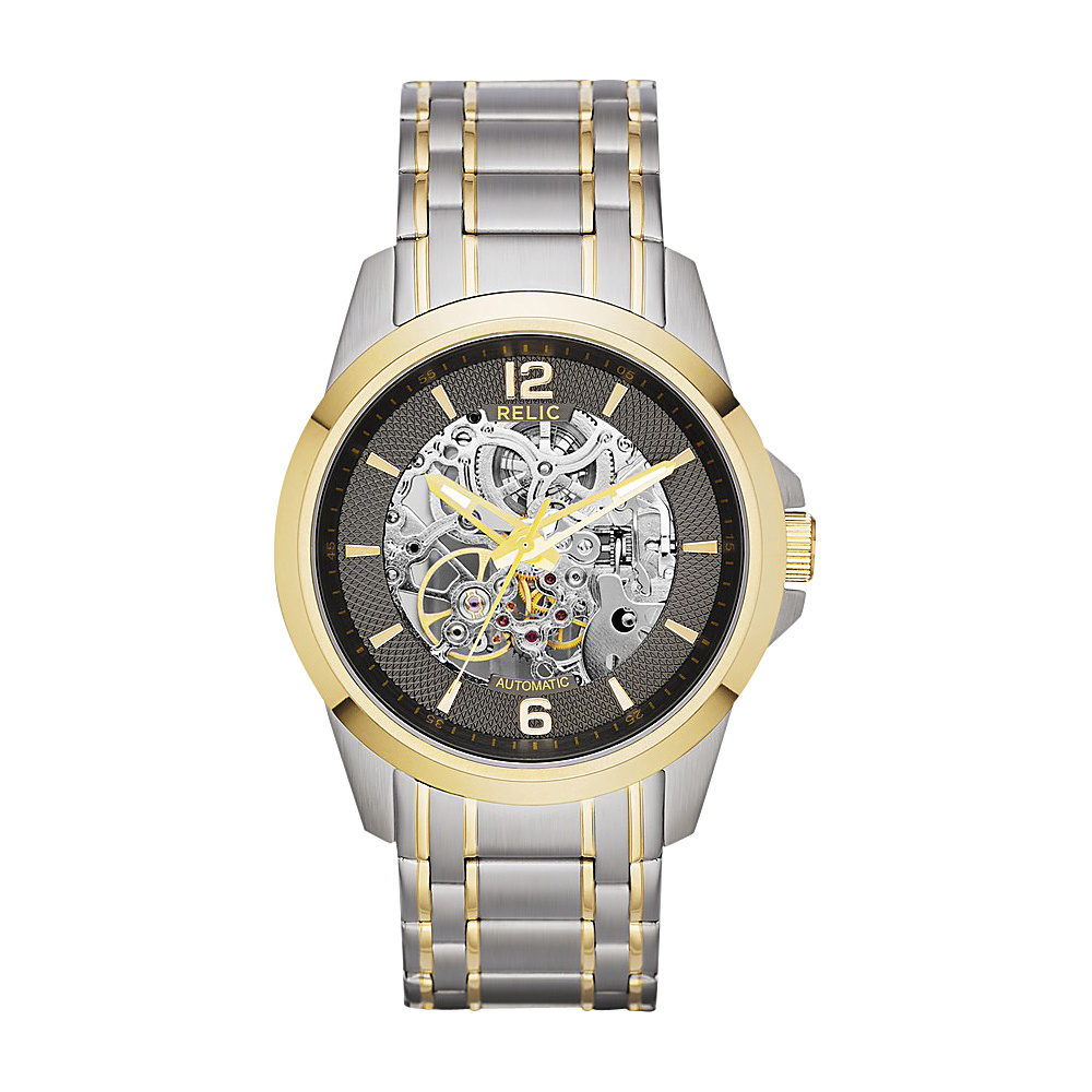 Relic Automatic Skeleton Dial Watch Silver Relic Watches