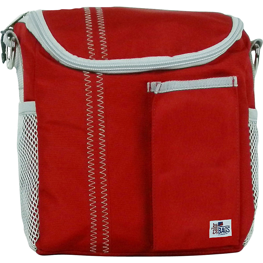 SailorBags Lunch Bag Red Grey SailorBags Travel Coolers