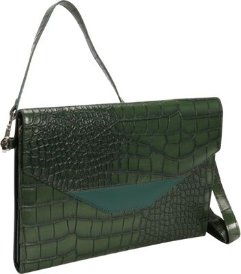 Hang Accessories RFID Crocodile Tablet Organizer Green - Hang Accessories Electronic Cases